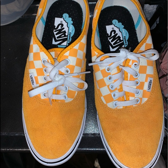 Vans Shoes   Orange And White Checkered